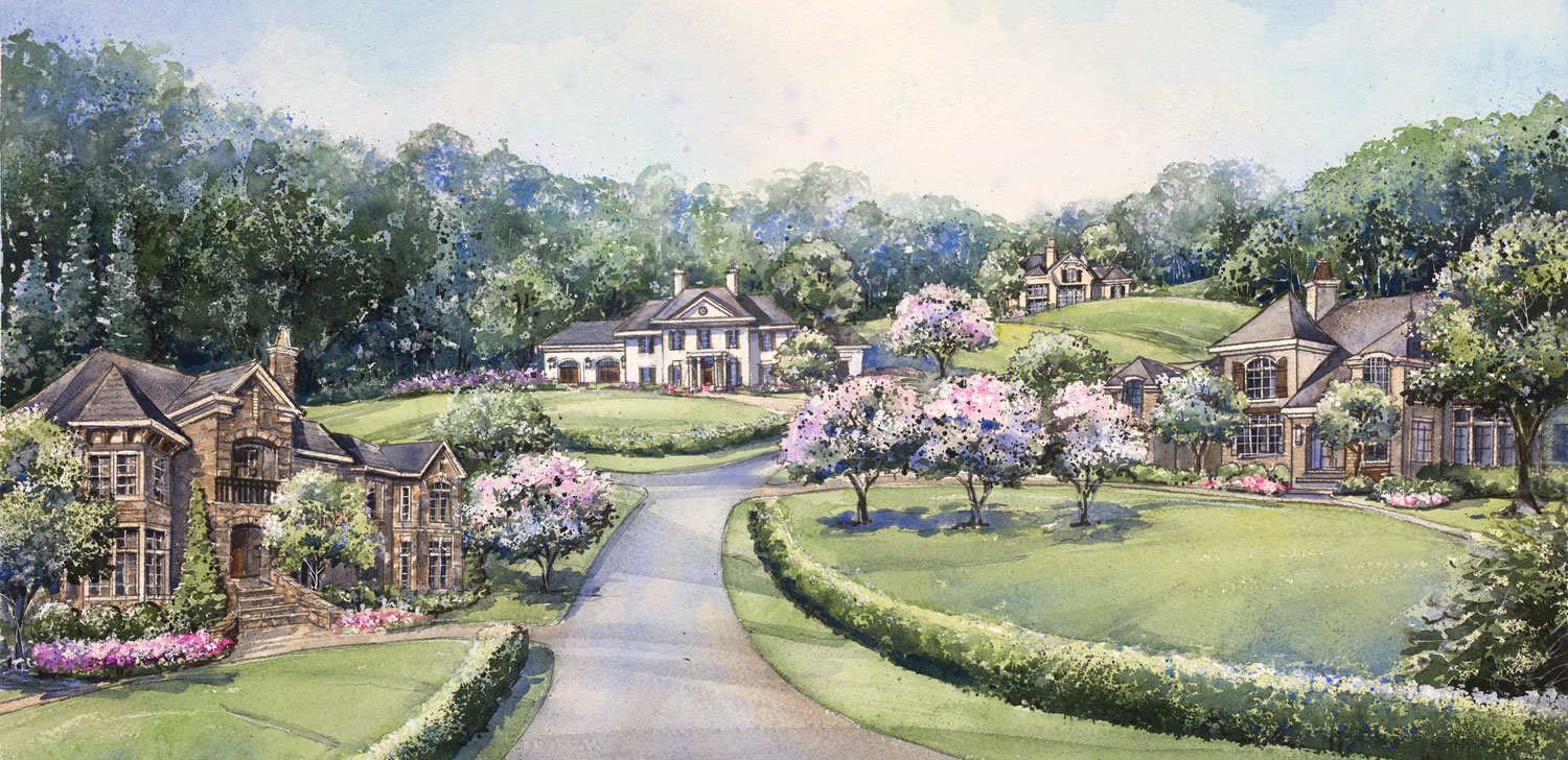 illustration of southern hills homes
